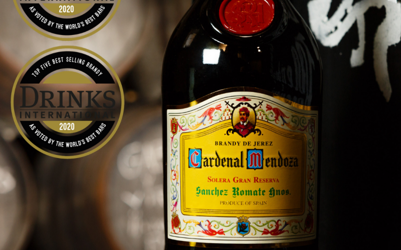 Cardenal Mendoza has ranked in the Top 5 of Brandy brands