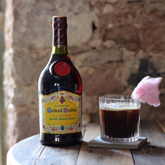 Pop up Coffee cocktail cardenal mendoza brandy