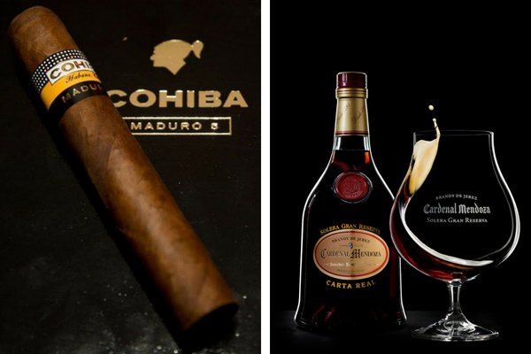 cardenal mendoza acarta real and cohiba cigar