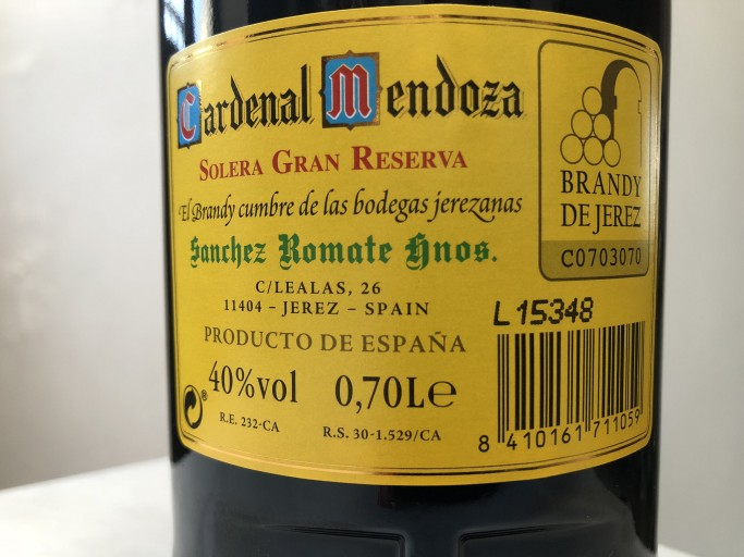 etiqueta brandy